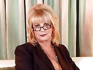 Blonde Granny Hot Masturbation Mature Solo