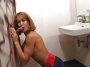 Brandy sucking at the glory hole