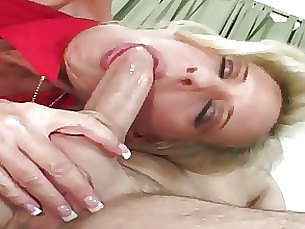 Blonde Blowjob Cougar Fuck MILF Seduced Teen