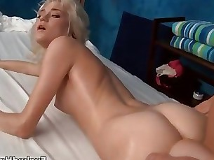 Hot blonde babe gets horny