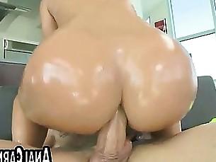 Big cock fucks tan MILFs ass
