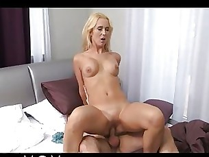 Blonde Blowjob Big Cock Horny MILF Shaved Threesome
