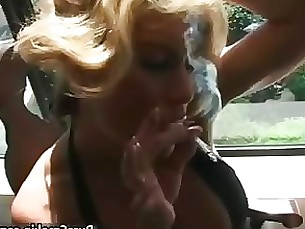 Beauty Blonde Crazy Fetish MILF Smoking