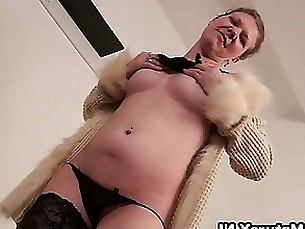 Horny european mature woman is stripping part6