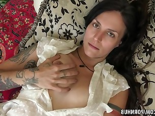 Babe Brunette Fingering Hairy Hot Mature Panties Pussy