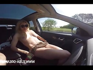 Car MILF Nasty Nude Public