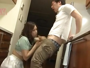 Blowjob Cum Cumshot Japanese Mammy MILF Mouthful Sleeping