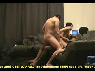 Amateur Homemade Interracial MILF Really Threesome Wife