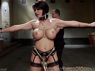 BDSM Big Tits Brunette Busty Domination MILF Slave Toys