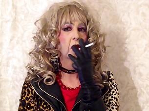 Blonde Mature Smoking