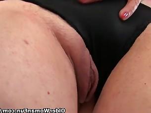 Granny Mature MILF Nipples Solo