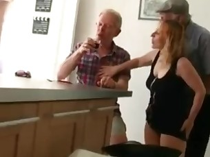 Babe Double Penetration Fuck Granny Mature MILF Old and Young Teen
