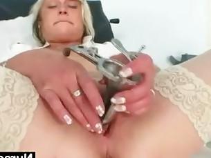 Blonde Dildo Exotic Fuck Granny Kiss Mammy Masturbation