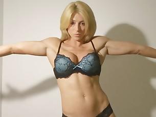 Big Tits Blonde Dolly Fetish MILF Striptease Tease