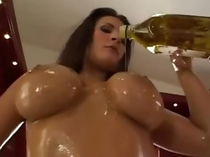 Big Tits Boobs Brunette Hardcore Mammy MILF Natural Oil