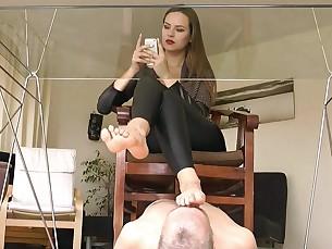 Feet Foot Fetish Licking MILF Slave
