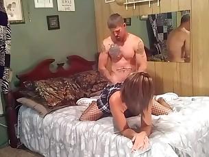 Amateur Brunette Big Cock Couple Creampie Cumshot Doggy Style Facials
