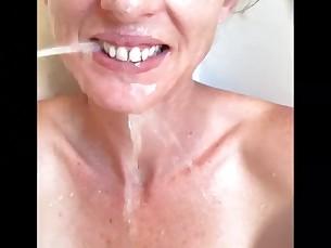 Amateur Babe Blonde Fetish MILF Mouthful POV Shower