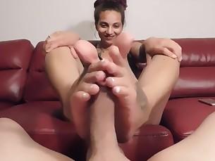 Babe Big Cock Cumshot Feet Foot Fetish Footjob Gang Bang Handjob