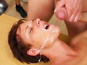 Brunette Cumshot Dildo Facials High Heels Hot Mammy Masturbation