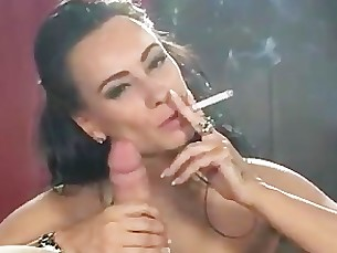 Brunette Fetish Mammy MILF Smoking