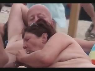 Beach Couple Mature Nude Outdoor Public