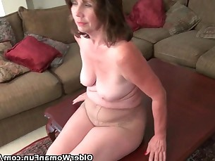 Granny Mammy Mature MILF Nylon Panties Playing Pussy